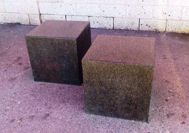 Blueton Limited The New Name In Street Furniture Ref 160 Cube Stone Bollards