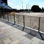 Custom stainless steel perforated guardrail panels for Govan